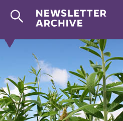 Newsletter Archive button with picture of crop